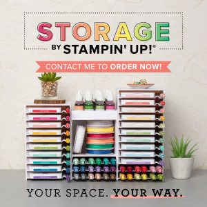 Picture of white, modular ink pad and marker storage units