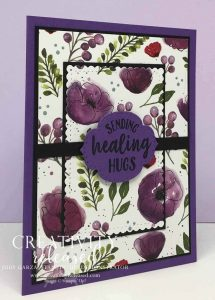 A Get Well card using Peaceful Poppies designer series paper
