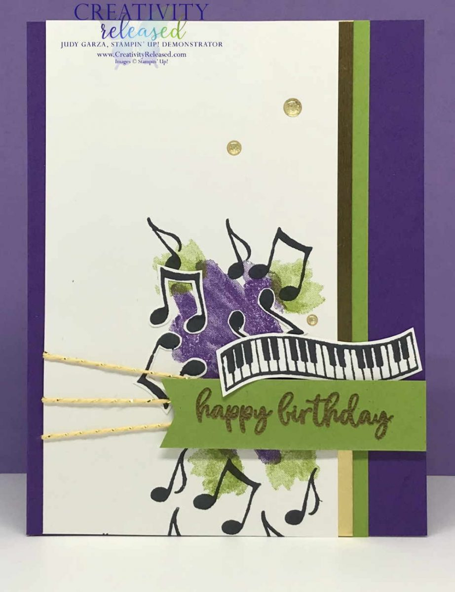 Superb Mardi Gras Birthday Music Judy Garza Stampin Up Demonstrator Personalised Birthday Cards Cominlily Jamesorg