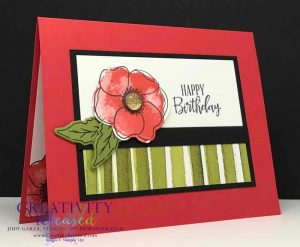 Brightly colored birhtday card using the Painted Poppies Bundle
