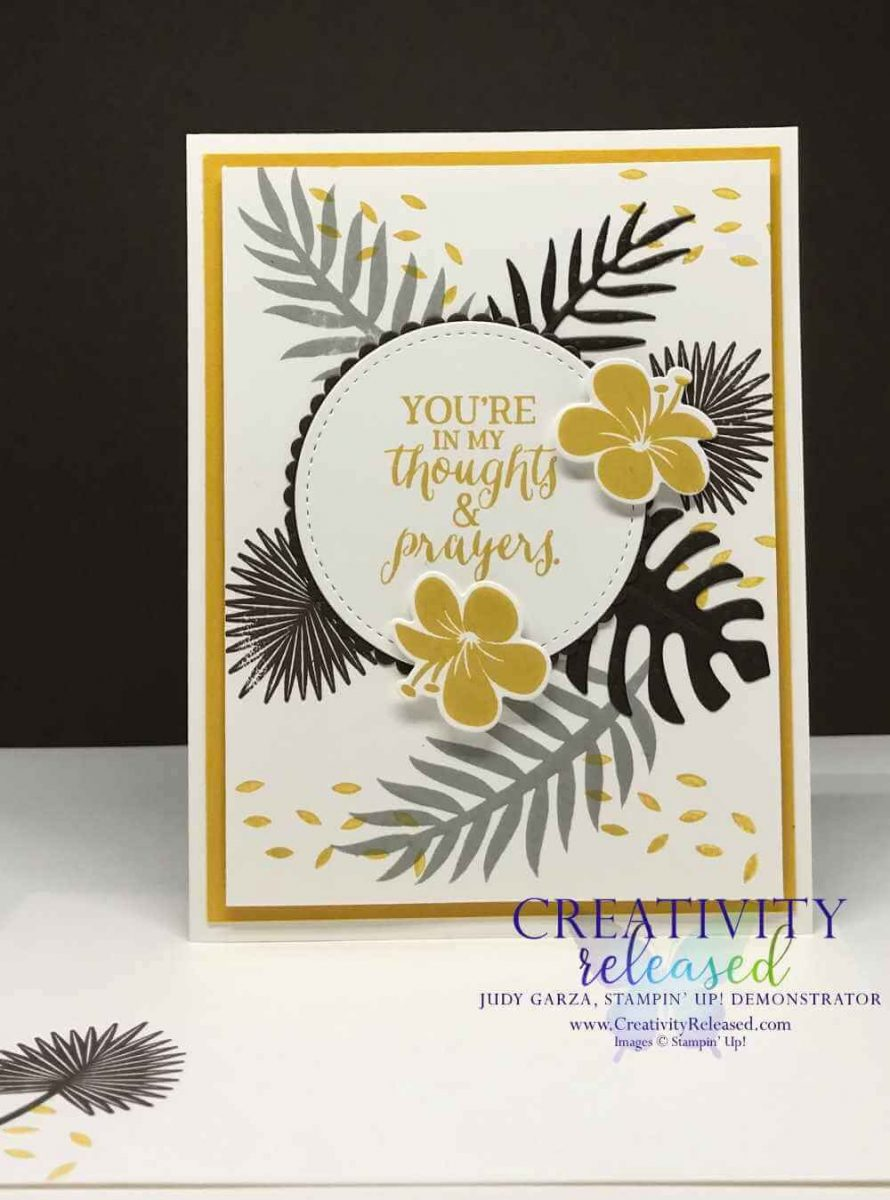 A card using the Tropical Chic stamp set by Stampin' Up!
