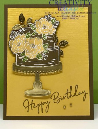 Happy Birthday card using Soft Suede cardstock and the Bleaching Technique