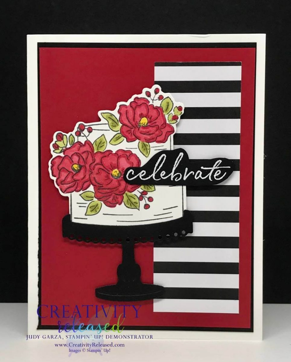 Happy Birthday To You card done in Red, White and Black