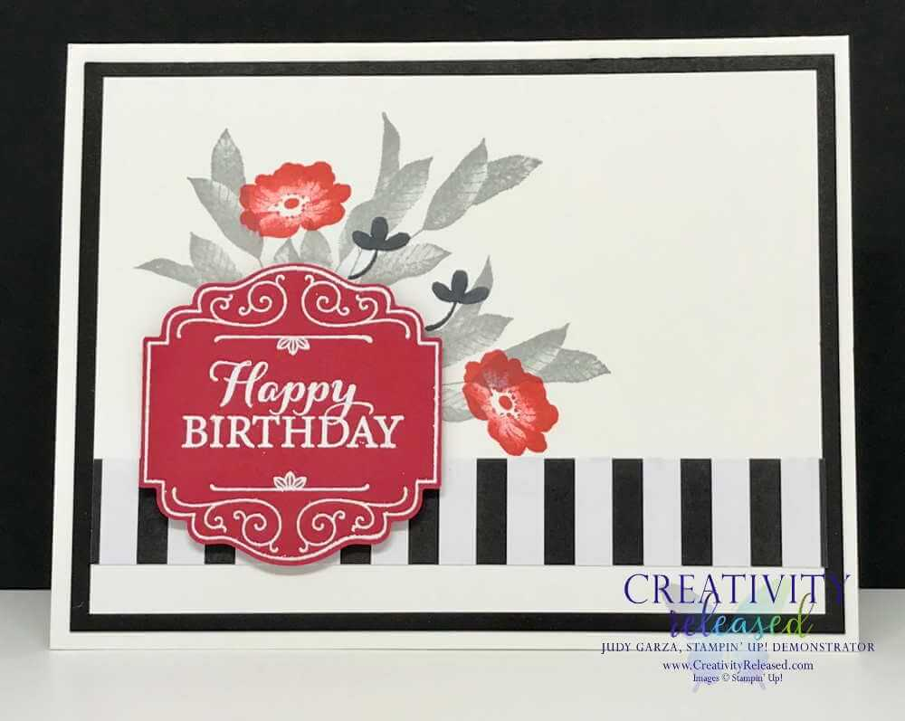 A birthday card made with Stampin' Up!