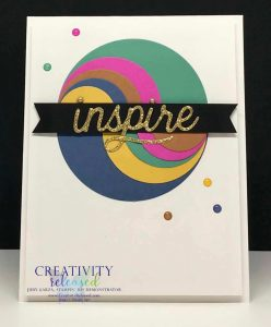 A greeting card using the new Stampin' Up! In-Colors to make an inspirational Ying-Yang