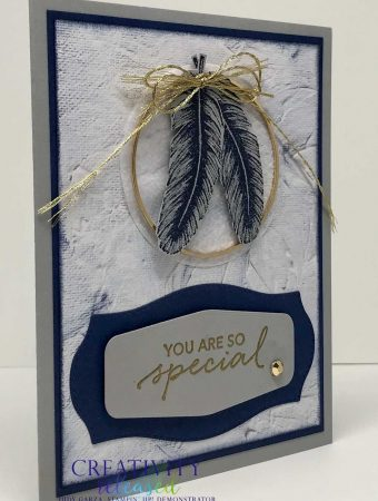 "A ""You are special"" card made with the feather image from ""In Good Taste"" Suite from Stampin' Up!"