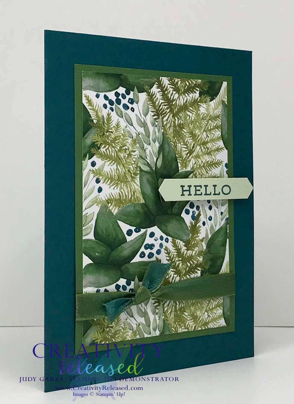 A Stampin' Up! card made with the Forever Greenery Suite, Forever Fern stamp set.