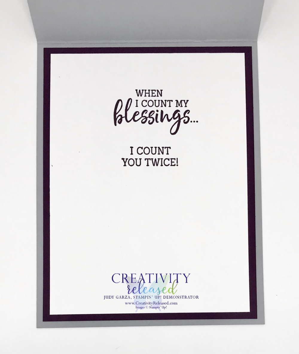 An inside look at a handcrafted card using the His Love stamp set by Stampin' Up!