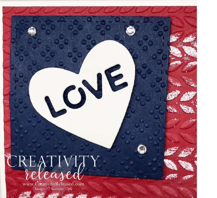 An up-close look at How to make a patriotic card using Stampin' Up! products