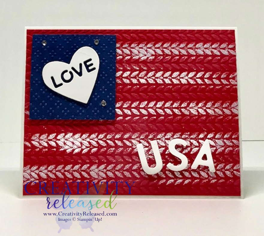 How to make a patriotic card using Stampin' Up! products