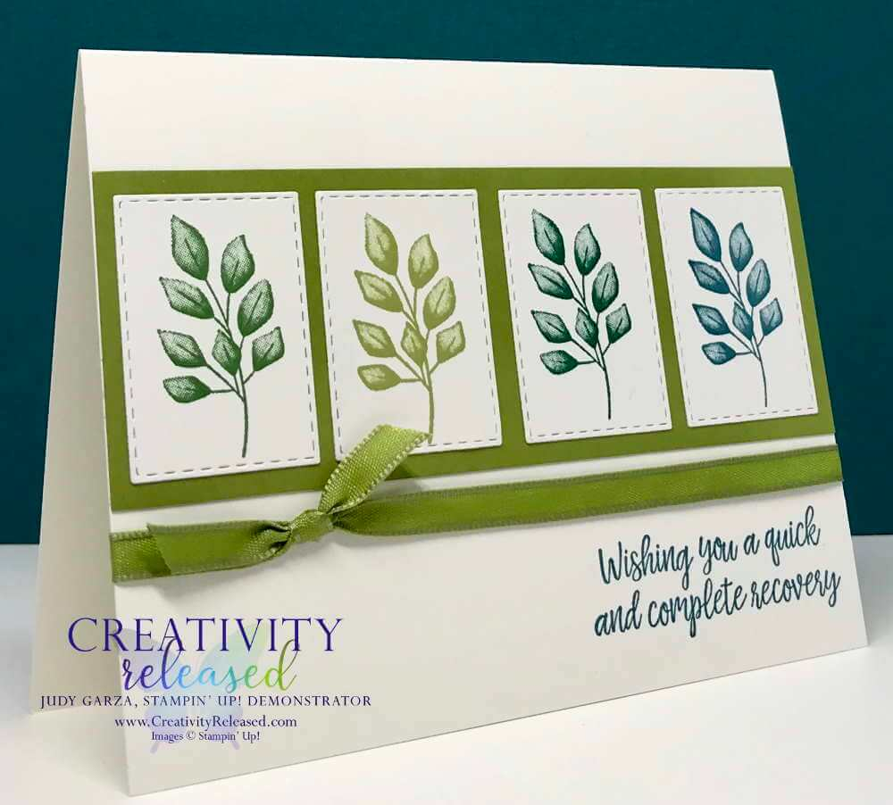 How to make a four panel card with the Forever Greenery Suite by Stampin' Up!