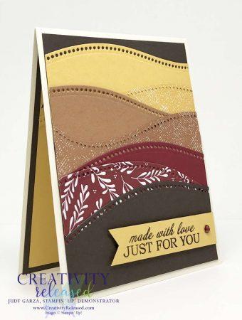 A Birthday card using Stampin' Up Curvy Celebrations bundle.