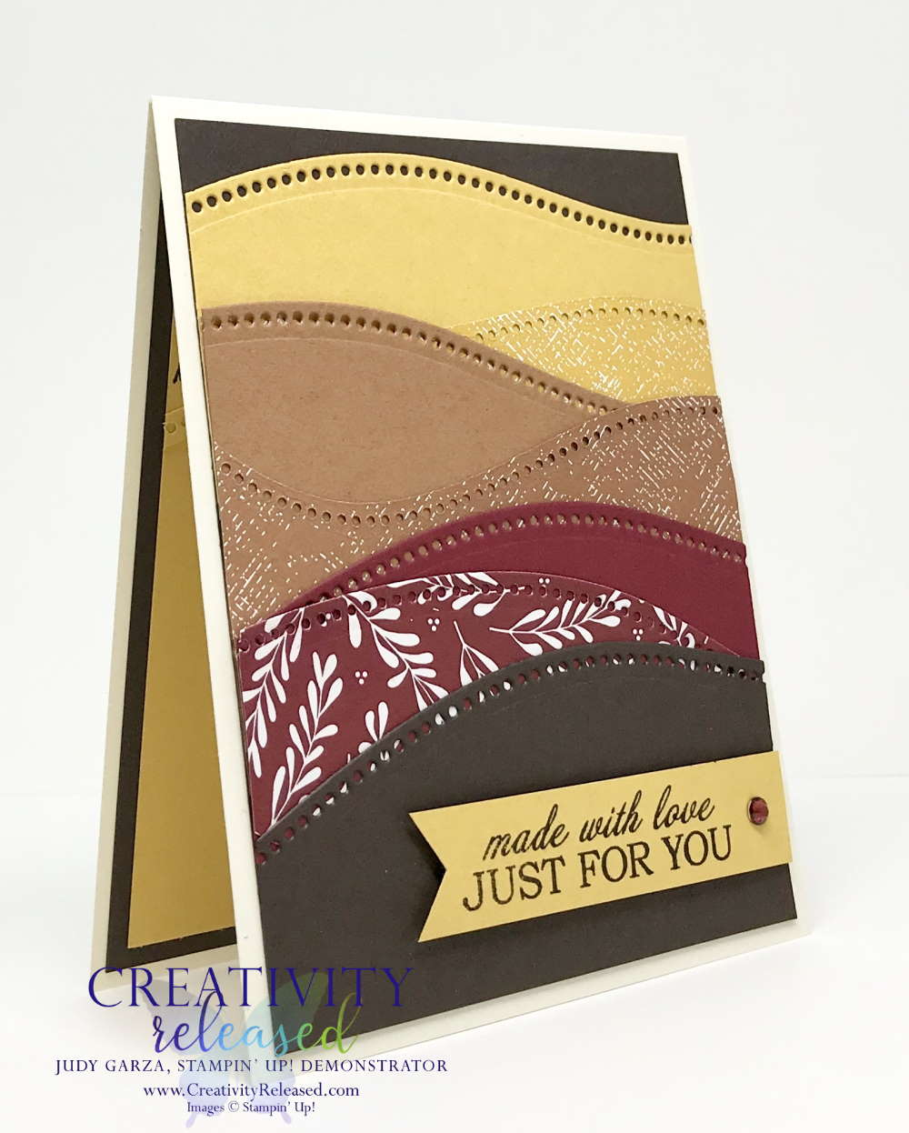 A Birthday card using Stampin' Up Curvy Celebrations bundle.