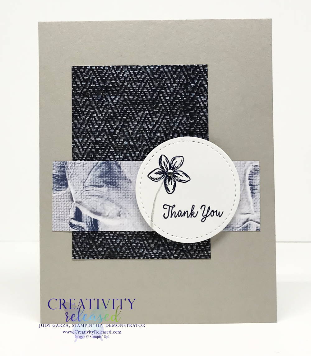 A simple thank you card featuring the Special Someone stamp set by Stampin' Up!