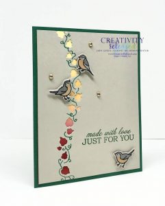 "A card ""Just For You"" featuring the Curvy Dies and Birds by Stampin' Up!"