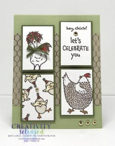 Let's Celebrate You card using the Hey, Chick and Hey, Birthday Chick stamp sets by Stampin' Up!