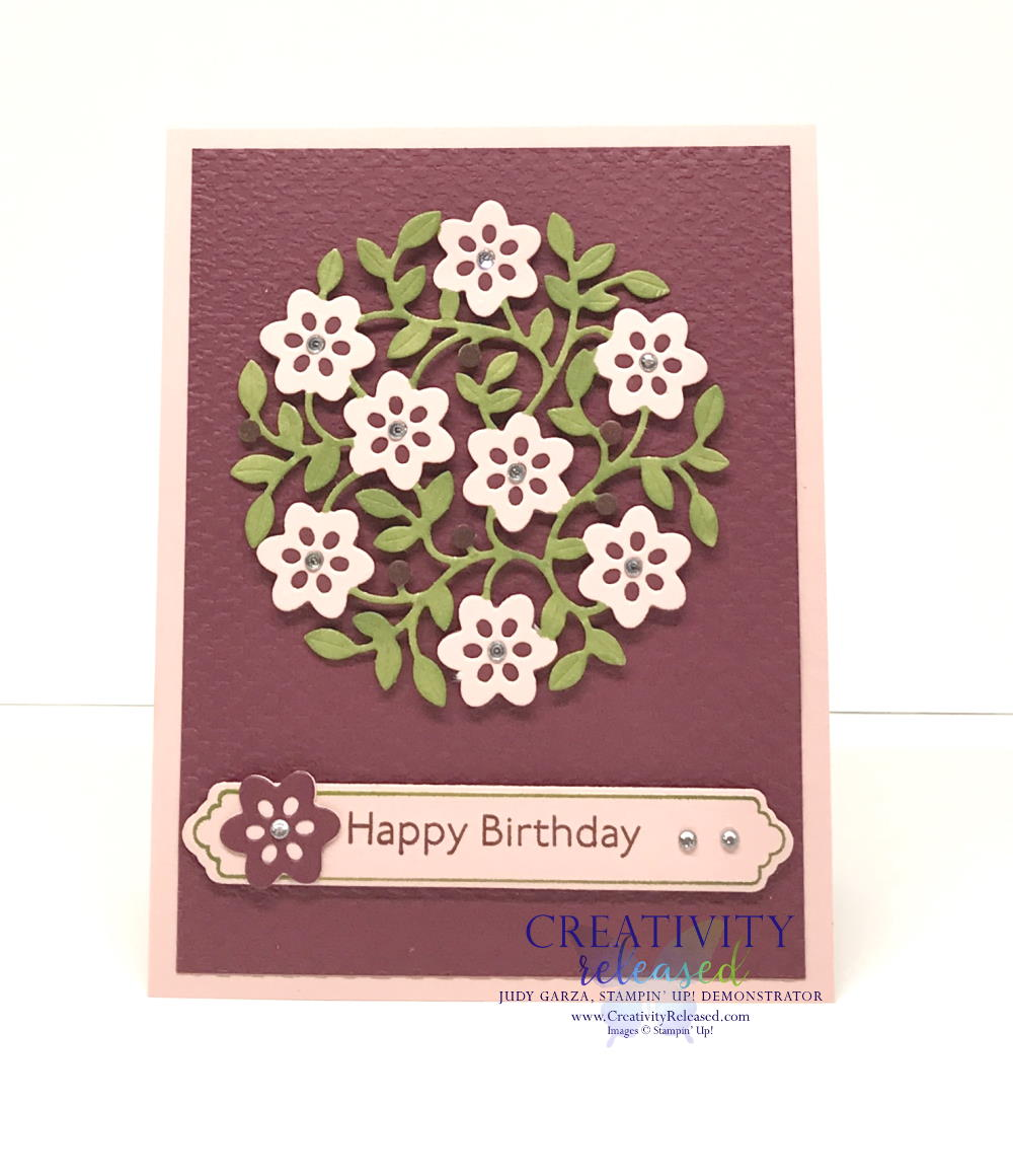 A Birthday card using the Vine Design bundle by Stampin' Up!