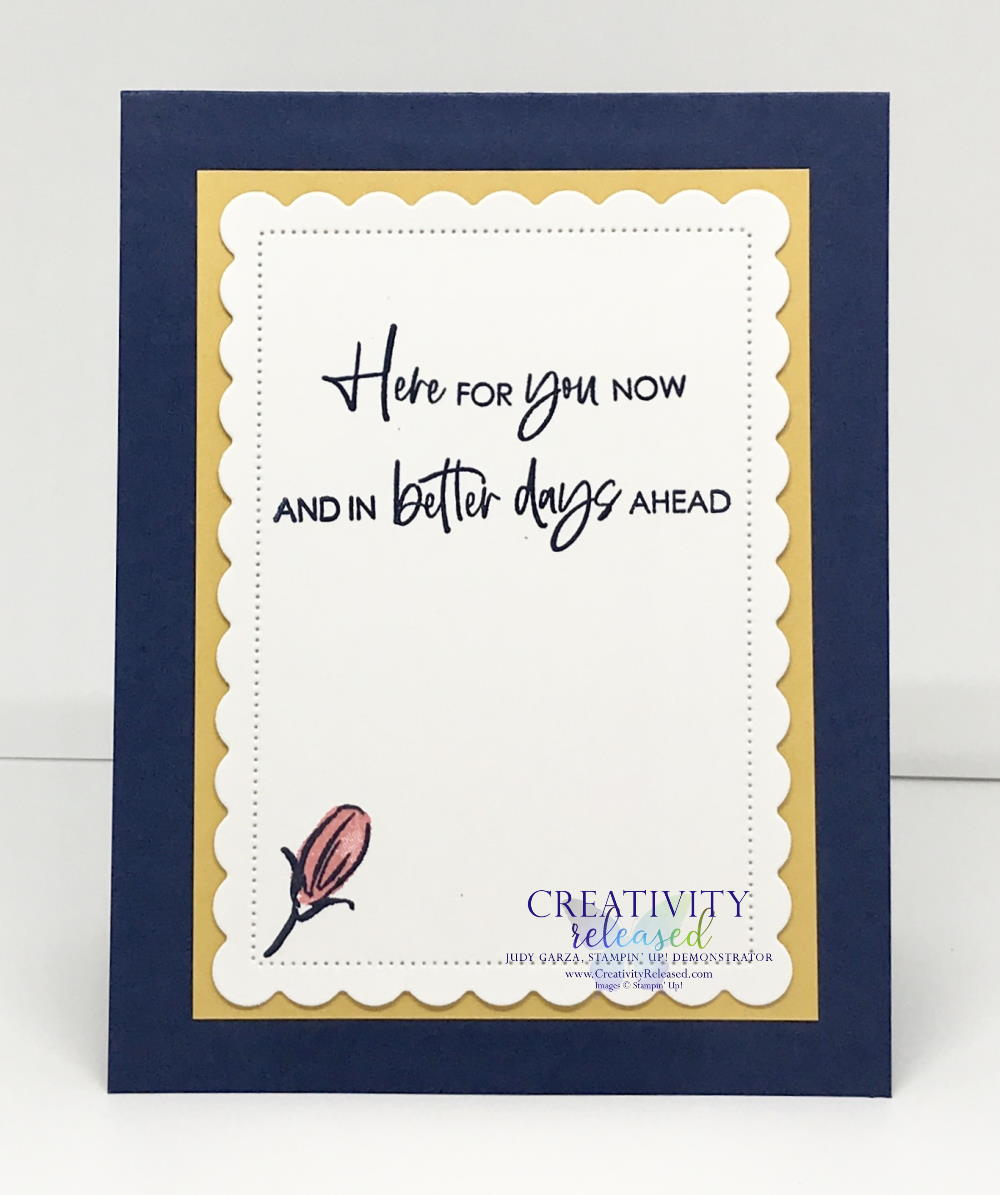"""A look inside a """"here for you"""" card made with Stampin' Up!'s Color & Contour Bundle to meet the CCMC664 color challenge."""