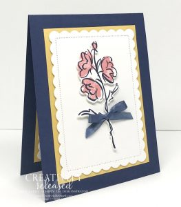 """Side view of a """"here for you"""" card made with Stampin' Up!'s Color & Contour Bundle to meet the CCMC664 color challenge."""