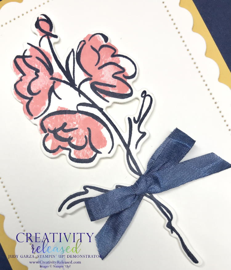 """An up-close look at a """"here for you"""" card made with Stampin' Up!'s Color & Contour Bundle to meet the CCMC664 color challenge."""