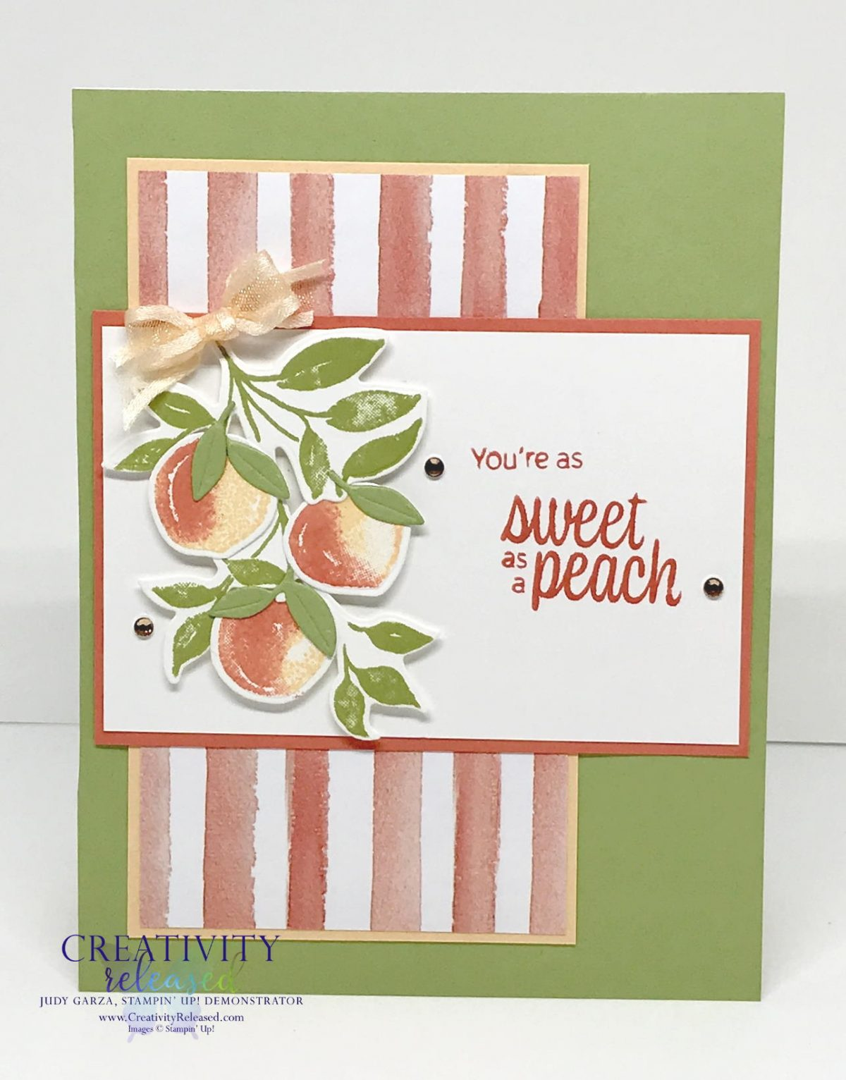 A Peachy Birthday card using the new Sweet as a Peach Bundle by Stampin' Up!