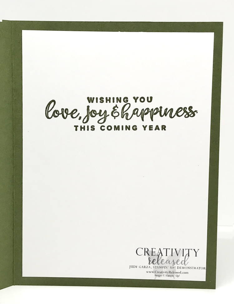 The inside of a Christmas card using the Whimsy & Wonder stamp set and the Give It A Whirl dies by Stampin' Up!®