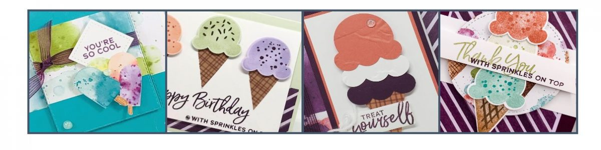 Four snippets of Ice Cream cards